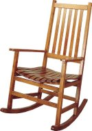 Coaster Southern Country Plantation Porch Rocker-Rocking Chair, Oak Wood Finish