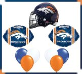 Denver Broncos Party Navy NFL Football Balloon Set