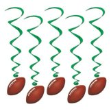 Football Whirls Party Accessory (1 count) (5Pkg)