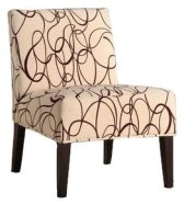 Homelegance Lifestyle Armless Lounge Chair, Swirl