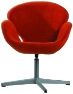 International Design USA Swan Adjustable Leisure Chair, Red