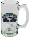 Super Bowl XLVIII 48 NFL Dueling Broncos Vs Seahawks Glass Beer Mug