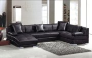 3334 Black Ultra modern sectional sofa