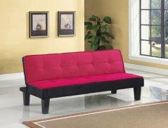 Acme 57038 Hamar Microfiber Adjustable Sofa, Pink