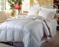 Blue Ridge Home Fashions, Hotel Grand Silk 1000-Thread Count White Goose Down Comforter