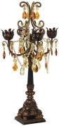 Bronze and Gold Four Taper Candle Candelabra