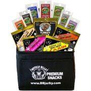 Buffalo Bills 1.75oz Beef Jerky Black 6-Pack Gift Cooler - A Great Valentine's Day Gift