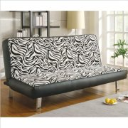 Coaster Zebra Print Convertible Sofa