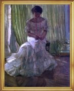 Frederick Carl Frieseke Medora Clark at the Clark Apartment Paris - 16inch x 20inch Framed Premium Canvas Print