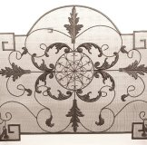 French Style Beautiful Metal Fireplace Screen with Extra Grill on Back