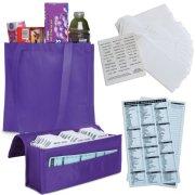 HannahDirect Expandable Coupon Organizer Gift Set, Purple