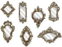 IMAX Loletta Victorian Inspired Mirrors, Set of 7