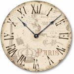 Item C2039 Vintage Style Shabby Chic Paris Clock (12 Inch Diameter)