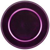Koyal Wholesale Charger Plates, Orchid Purple, Set of 24