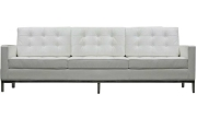 LexMod Florence Style Sofa in White Genuine Leather