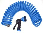 Orbit 25-Foot Blue Coil Hose & Spray Nozzle 27890