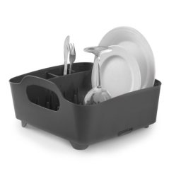 Umbra Tub Dish Drying Rack, Smoke