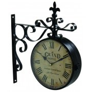 Vintage Grand Hotel Paris Dual Faced Station Clock - Reproduction