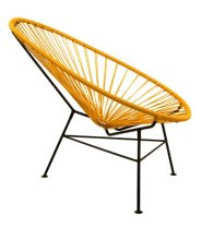 Acapulco Modern Steel Lounge Chair Mustard