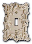 Amerelle 60TAW Provincial Toggle Wallplate, Antique White
