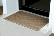 Andersen 280 WaterHog Fashion Polypropylene Fiber Entrance Indoor-Outdoor Floor Mat, SBR Rubber Backing, 3ft Length x 2ft Width, 3-8in Thick, Medium Brown