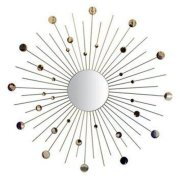 Ashton Sutton Wall Mirror, Silver Rays And Discs