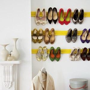 Shoe storage and organization ideas debbies home shop diy crown moulding or chair rail solutioingenieria Choice Image