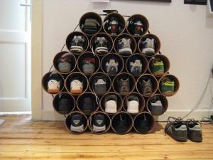 Shoe storage and organization ideas debbies home shop do it yourself shoe storage ideas diy pvc pipe shoe rack solutioingenieria Choice Image