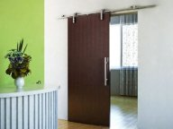 European Modern Satin Stainless Steel Sliding Barn Wood Door Closet Hardware Set
