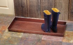Extra Weave USA Basketweave Metal Boot Tray, Antique Copper