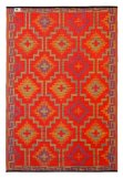 Fab Habitat 4-Feet by 6-Feet Lhasa Indoor-Outdoor Rug, Orange and Violet