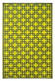 Fab Habitat 5-Feet by 8-Feet Rheinsberg Indoor Outdoor Rug, Sunny Lime and Charcoal Gray