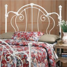 Hillsdale Cherie Metal Headboard in White Finish - Full Queen