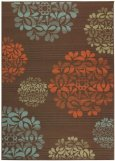 Hilo Ii Area Outdoor Area Rug, 3ft7in x 5ft6in, BROWN