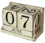 Ohio Wholesale Shabby Chic Perpetual Calendar Wall Art, Set of 6, from our Everyday Collection