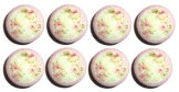 Set of 8 Shabby Chic Chenille Dresser Drawer Knobs