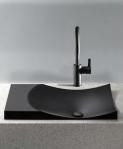Toto FLT142#80 Waza Noir Cast Iron Self-Rimming Lavatory, Matte Black