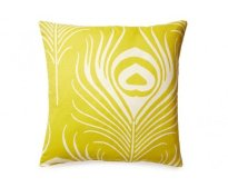 5 Surry Lane - Thomas Paul Peacock Chartreuse Feather Pillow