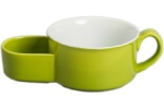 BIA 402453+992 Cracker and Soup Bowl Chartreuse, 15-Ounce, Green and White