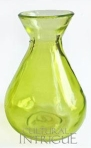Chartreuse Green Glass Vase (bulb design)