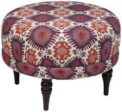 Ealing Alara Berry Pattern Round Ottoman
