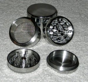 Four Piece NEW STYLE 2 1-4 inch Herb, Spice or Tobacco Pollen Grinder
