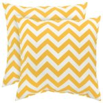 Greendale Home Fashions Indoor Outdoor Accent Pillows Yellow Zig Zag Set of 2
