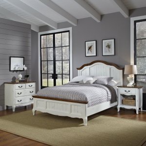 Home Styles 5518-6019 The French Countryside King Bed, Night Stand and Chest Set