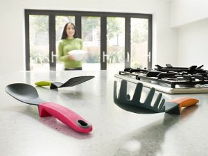Joseph Joseph Elevate 6-Piece Heat-Resistant Utensil Set and Joseph Joseph Elevate Tongs