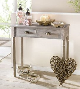 Antique Grey Side Table