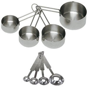 Onesource 8-Piece Deluxe Stainless Steel Measuring Cup and Measuring Spoon Set