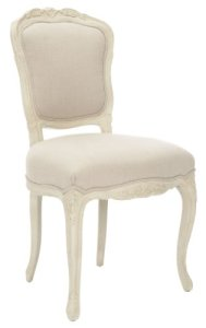 Safavieh American Home Collection Cherry Wood Side Chair, Set of 2, Cream