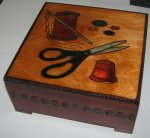 SEWING BOX, Beautiful Handmade Linden Wood Keepsake, Poland Wood Art