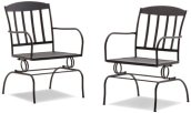 Strathwood Basics Steel Mesh Spring Dining Chair, Set of 2